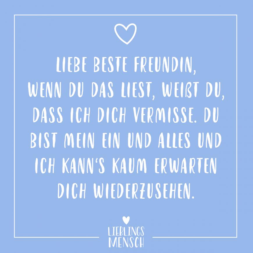 Beste Freundin Ich Vermisse Dich - Best Trend Inspiration