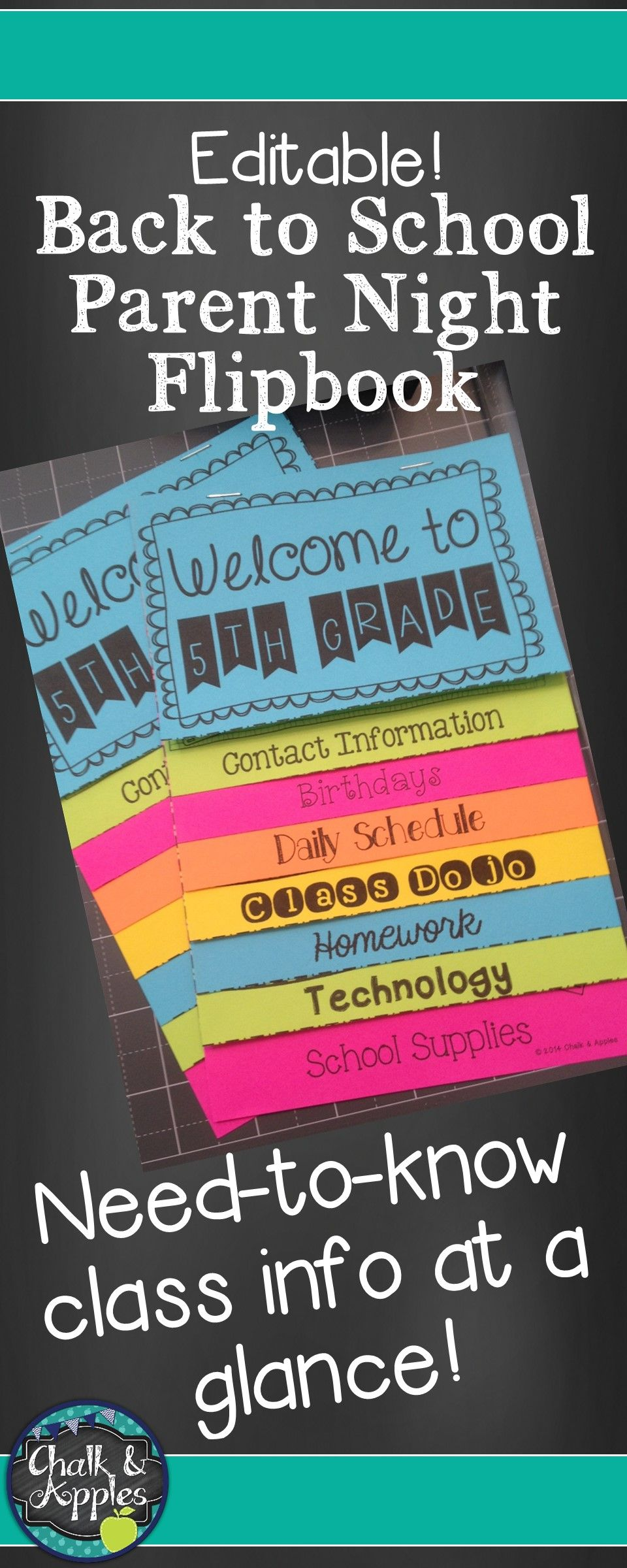 welcome back to school flipbook for meet the teacher night this editable flip book is an easy way to get important information to parents for meet the teacher or parent night at the beginning of the school year put