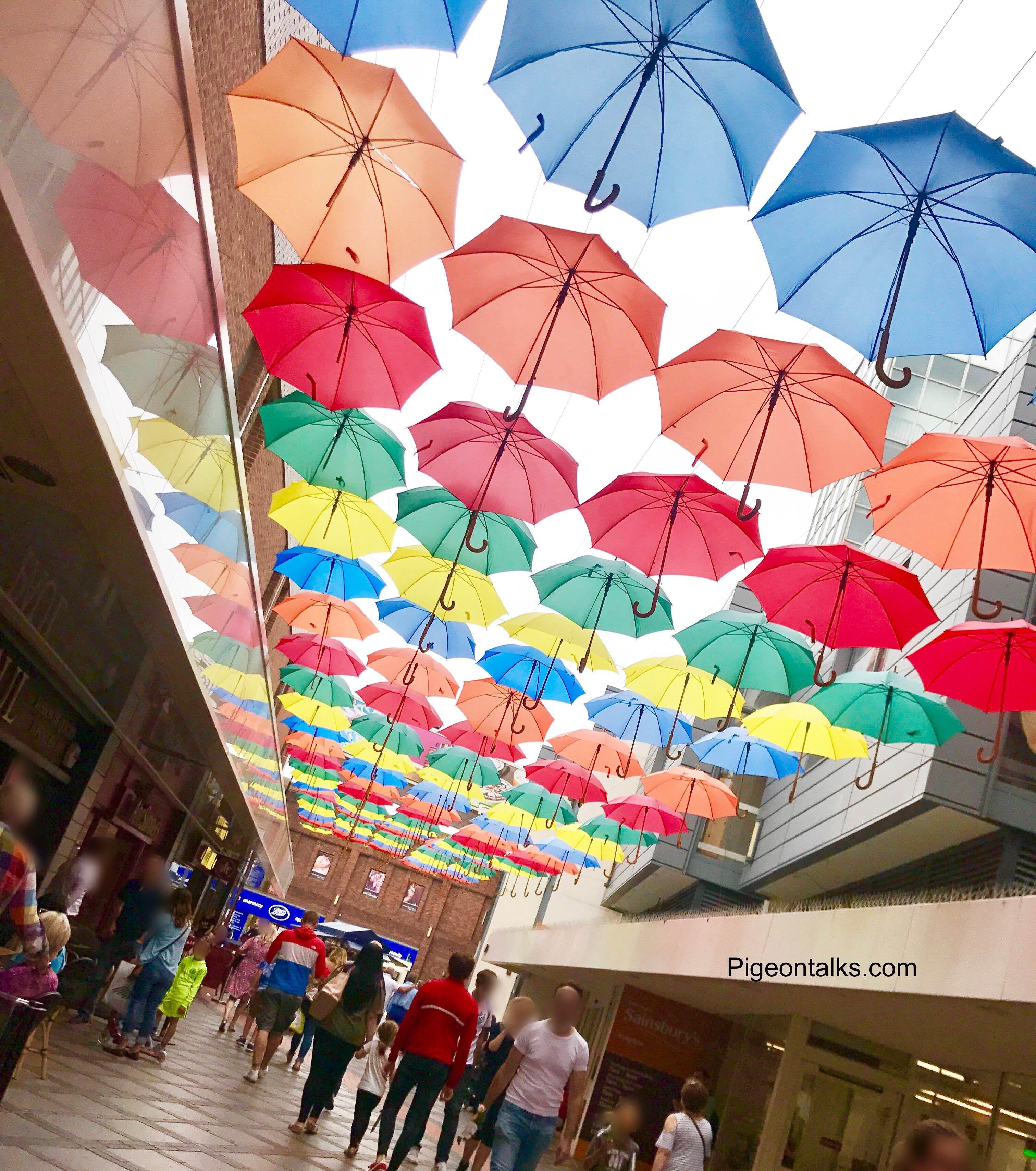 Kingston is prepared for a British summer  #london #kingston #umbrella #art #summer #rain #colour #verynice #random #funny #pigeontalks