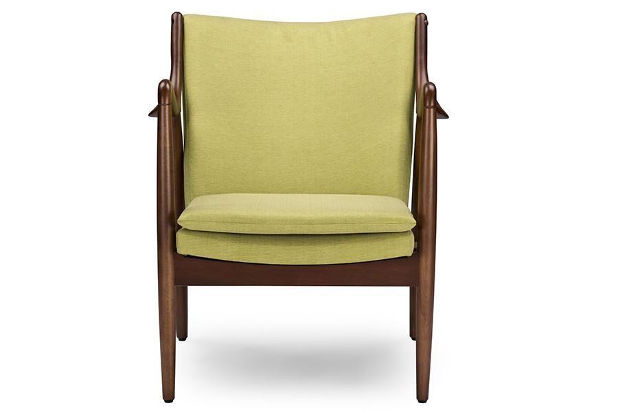 Baxton studio shakespeare green upholstered leisure accent