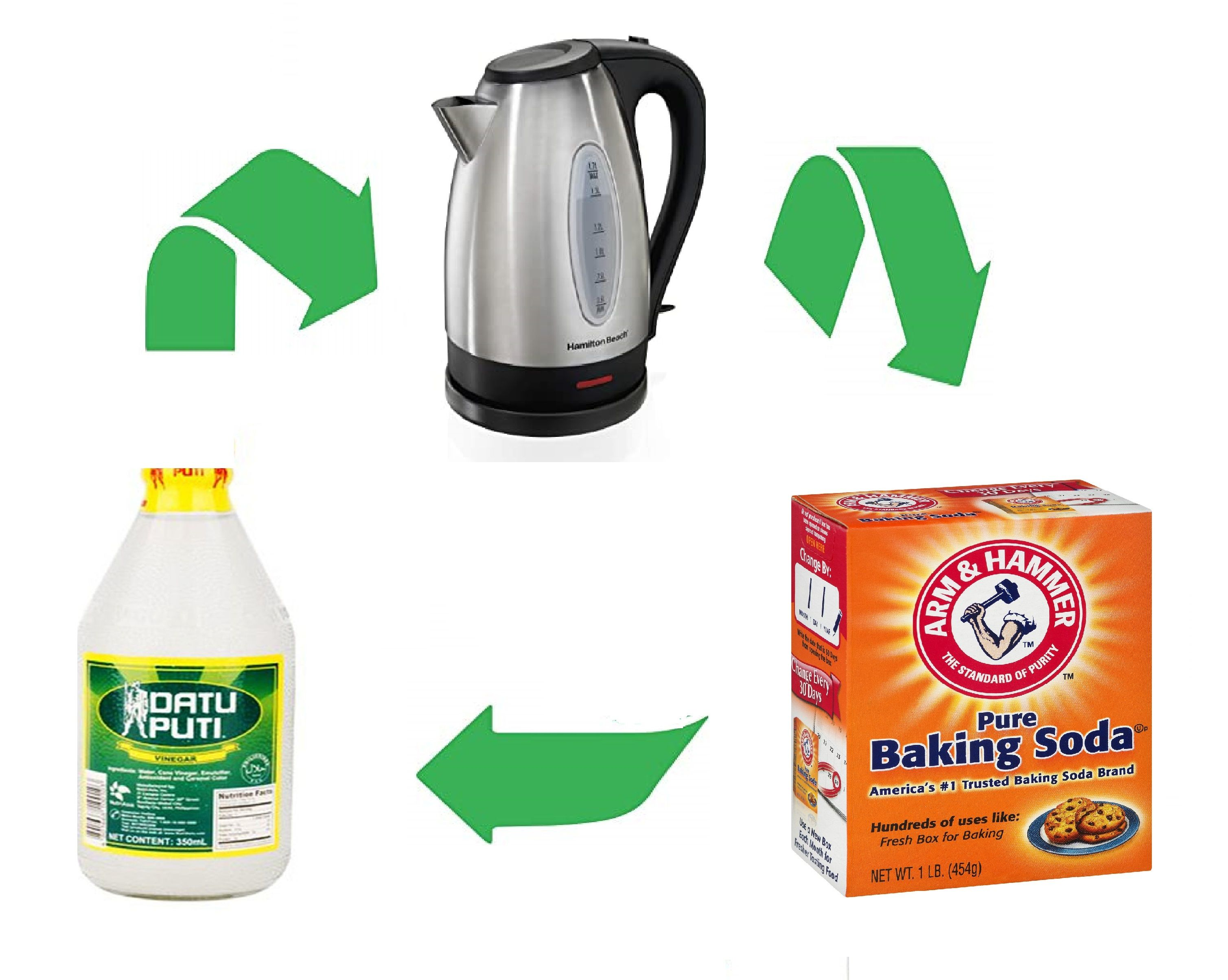 Easy way to unclog a drainage with hot water baking soda