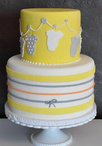 Onesie Clothesline Cake from Vanilla Bake Shop in Los Angeles, CA