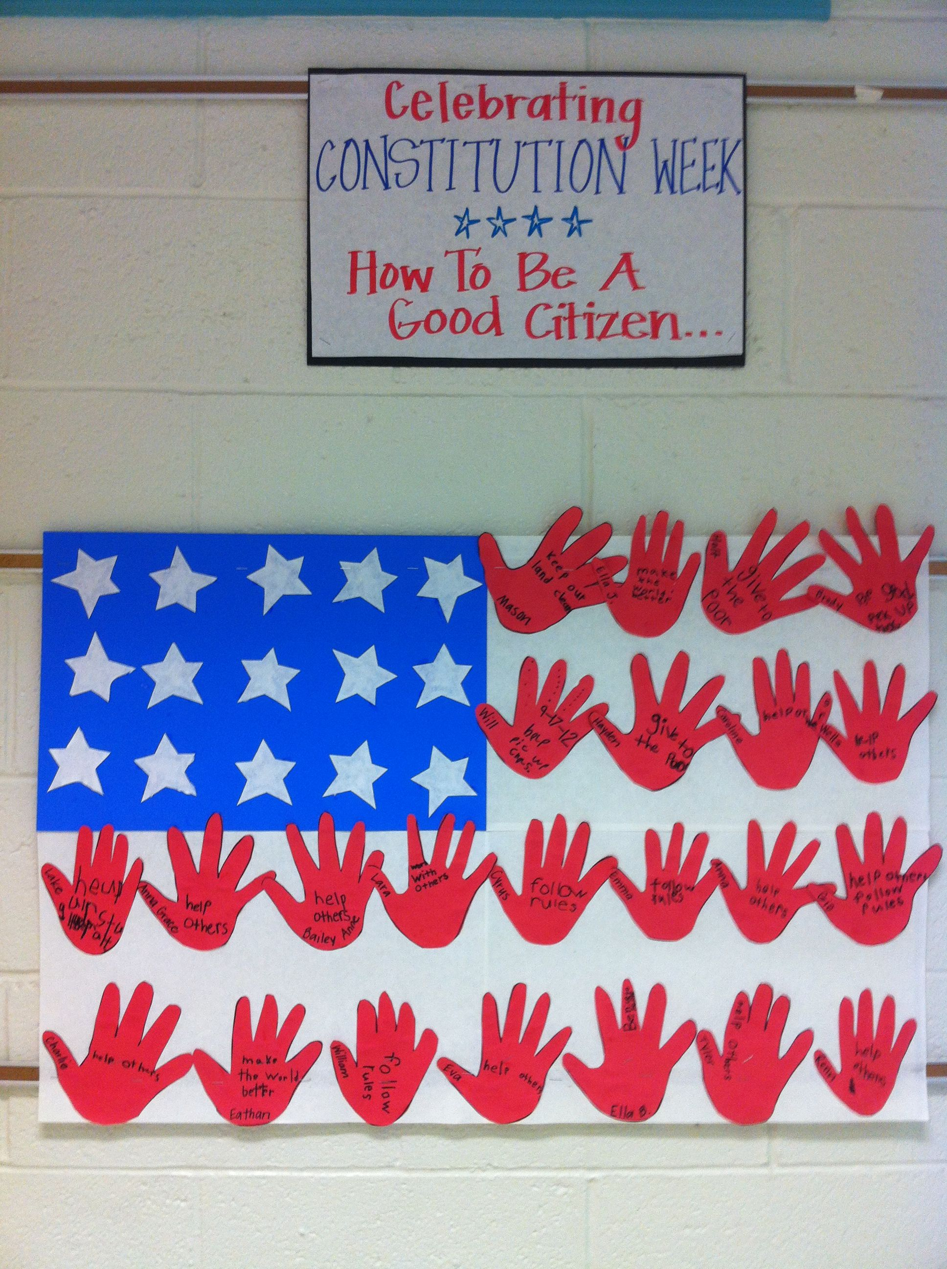 Celebrating Constitution Week. Good Citizen