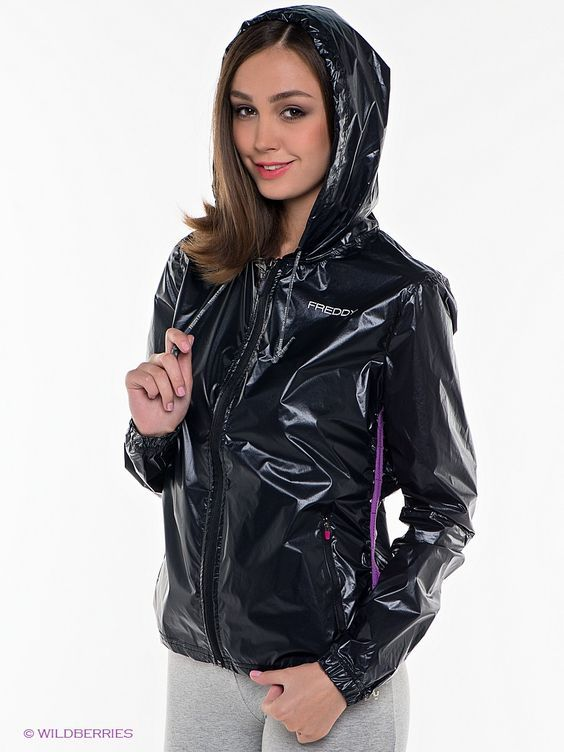 Glossy nylon jacket fetish