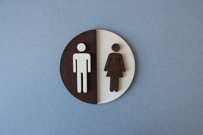 Door Sign Disabled Toilet with or without Arrows WC 15x20 30x40 20x30