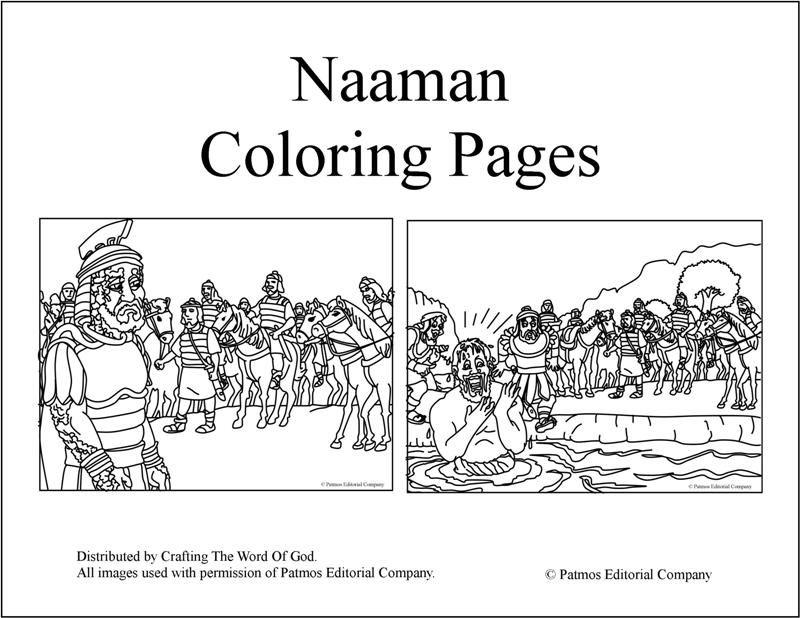 Naaman Queda Limpio- Paginas De Colorear | Manualidades Biblicas ...