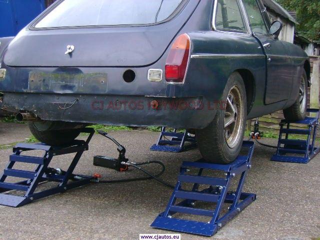 Hydraulic Car Ramps Garage Equipment For The Classic Car