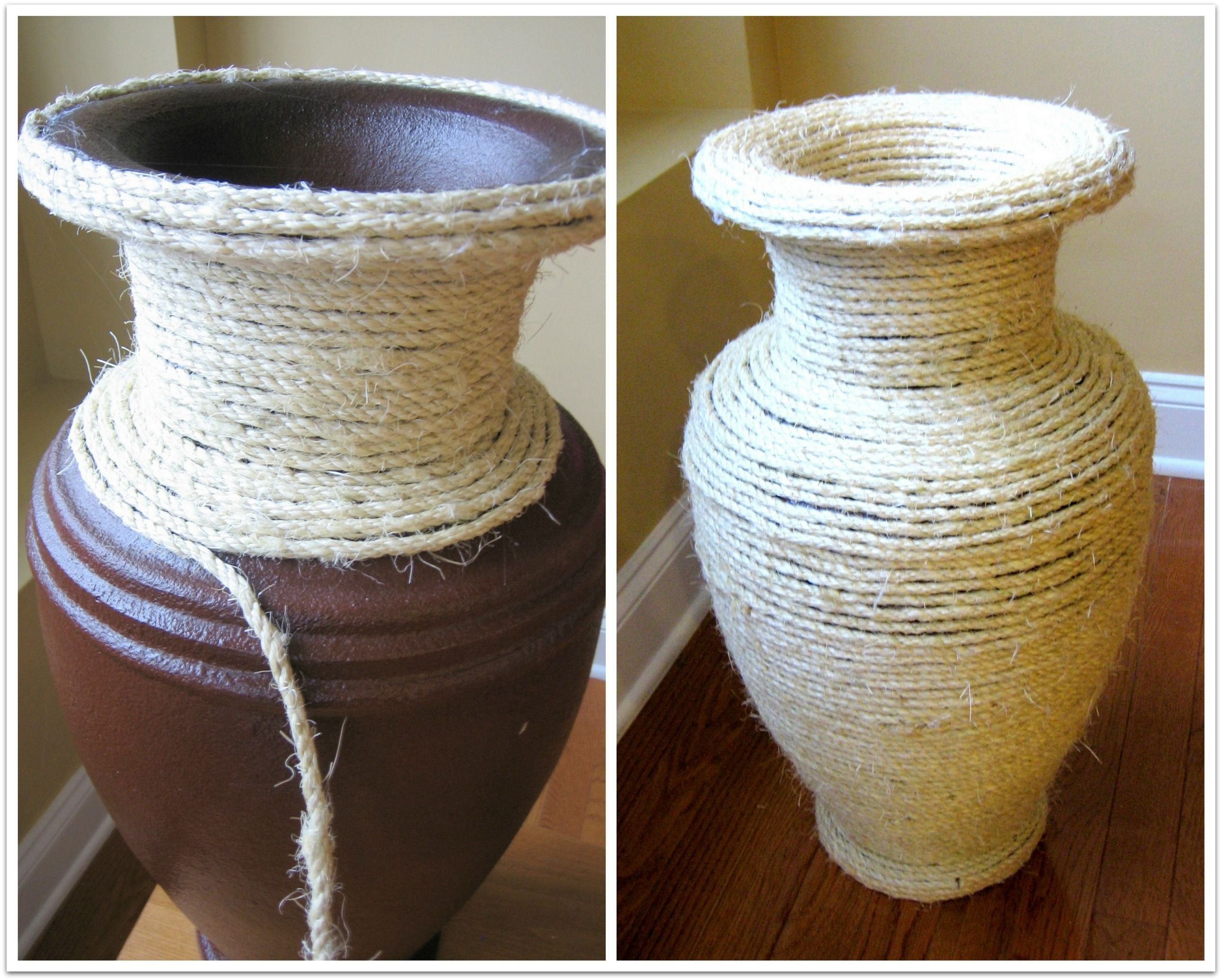 Sisal rope vase home decor crafts crafting with rope diy sisal rope vase home decor crafts crafting with rope diy handmade crafts reviewsmspy