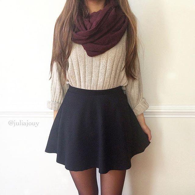 Best 25+ Black skater skirt outfit ideas on Pinterest | Skater skirt Skater skirt outfits and ...