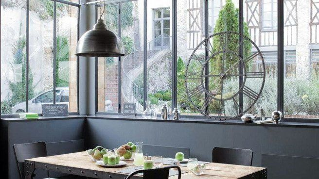Exemple de fenetre atelier idees terrasses pinterest for Baie vitree style verriere