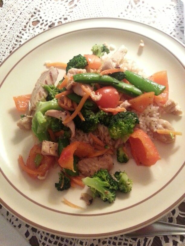Organic homemade stir fry