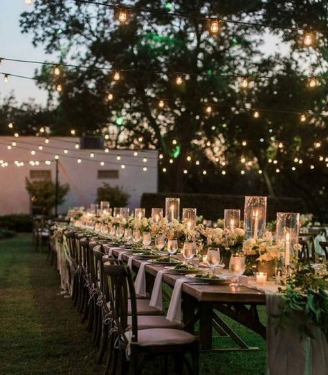 Wedding Centerpiece - Long Tables #dinnerideas2019