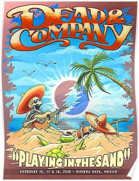 Grateful Dead Summer Company Playing in The Sand Mexico