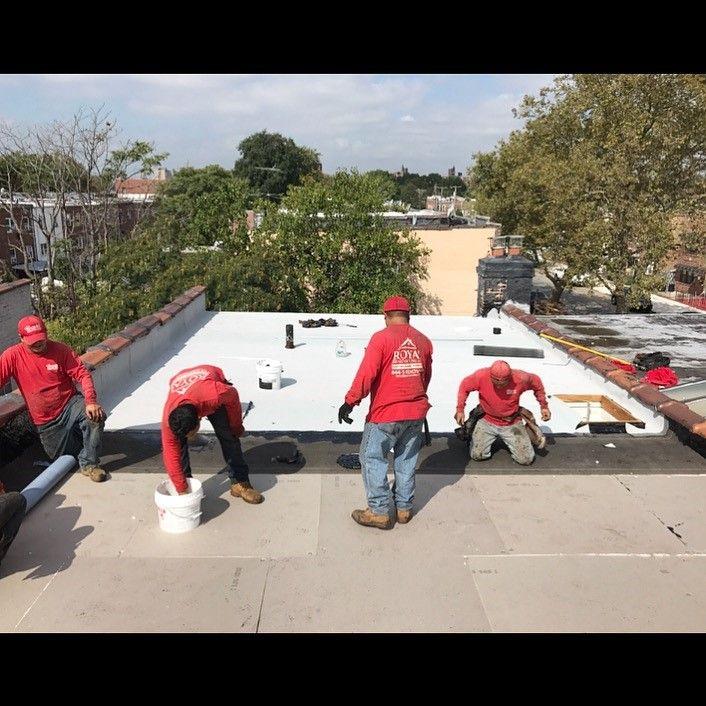 Flat Roof Install In Canarsie Brooklyn Ny Installation Brooklyn