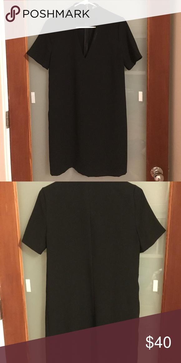 f3f204d6 Zara Black V-neck Cut Out Choker Shift Dress New without tags. Great  holiday party dress! Zara Dresses Mini