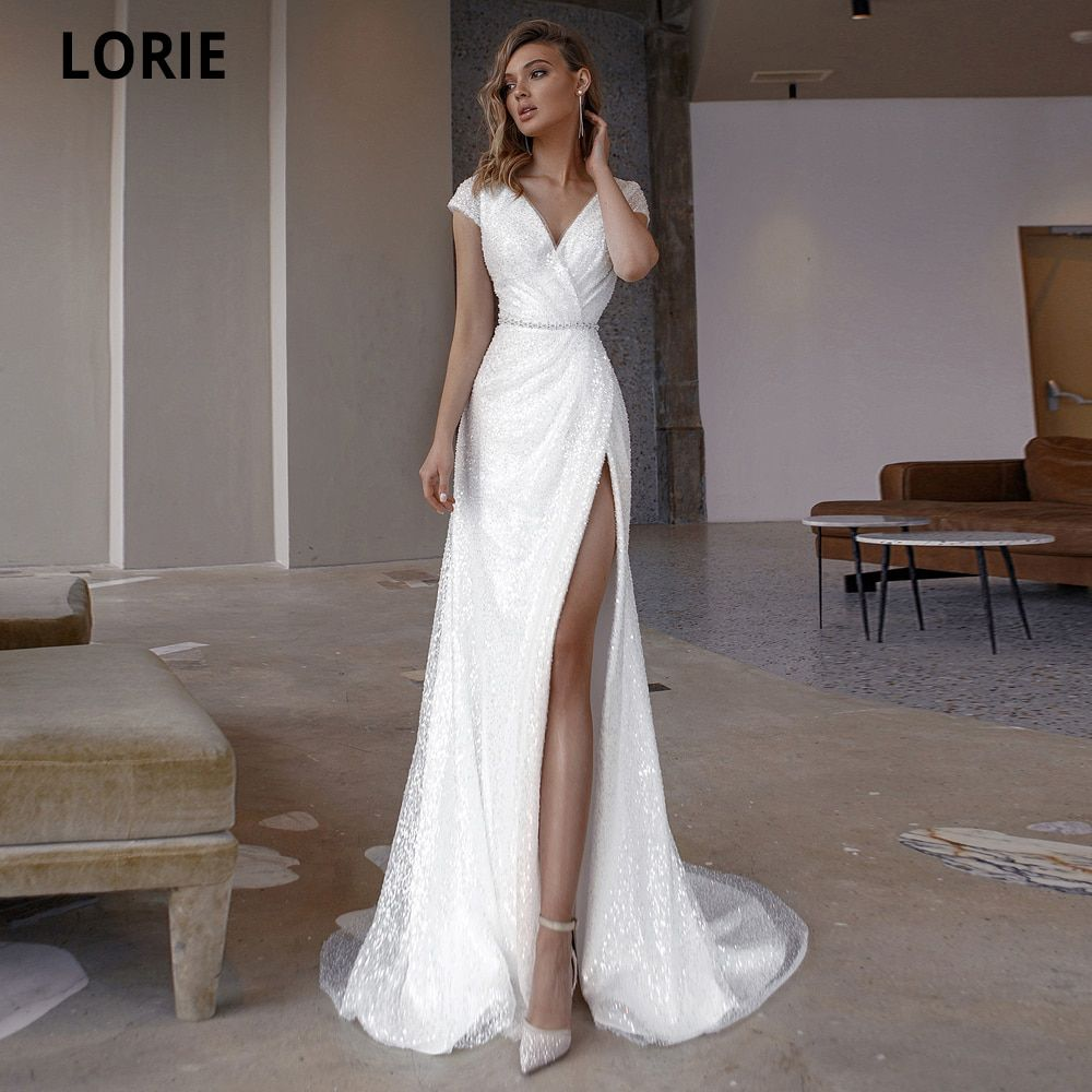 US $107.99 46% OFF|LORIE Sequined With Beads Weddi