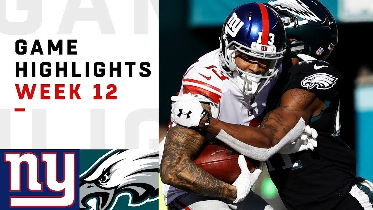 Giants vs. Eagles Week 12 Highlights NFL 2018 Nfl