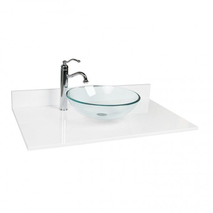 single design house marble top by bowl x inch white vanity