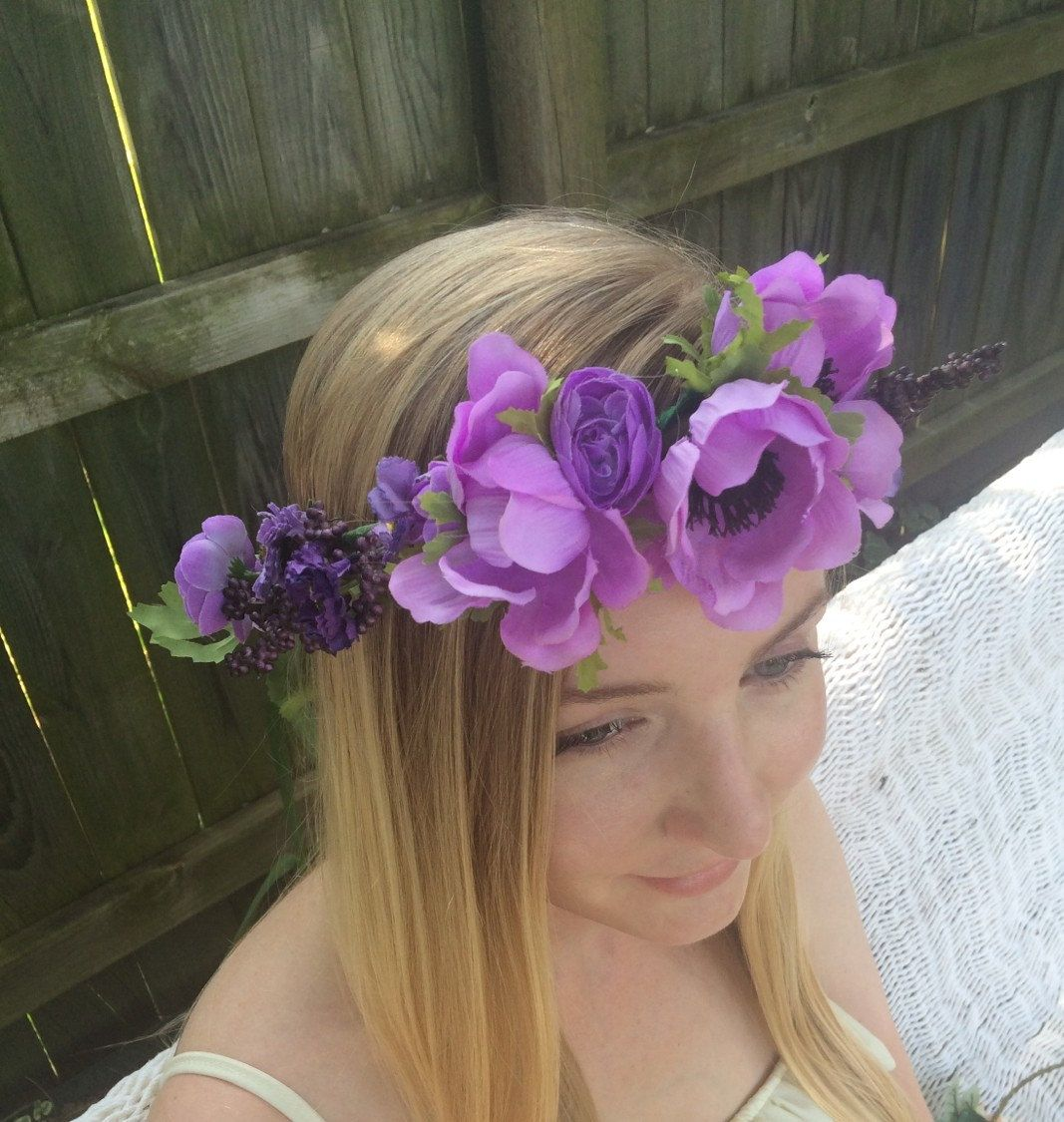 Purple Flower Crown By Taceysunshine On Etsy Gypsy Life