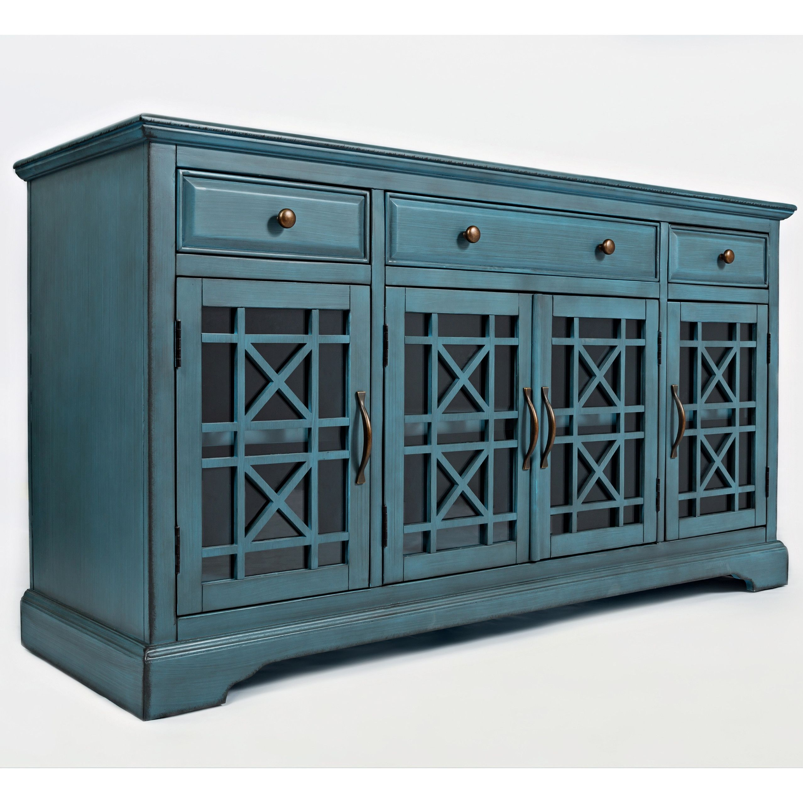 Navy Painted Media Stand Repurposed Dresser Blue Tv Stand