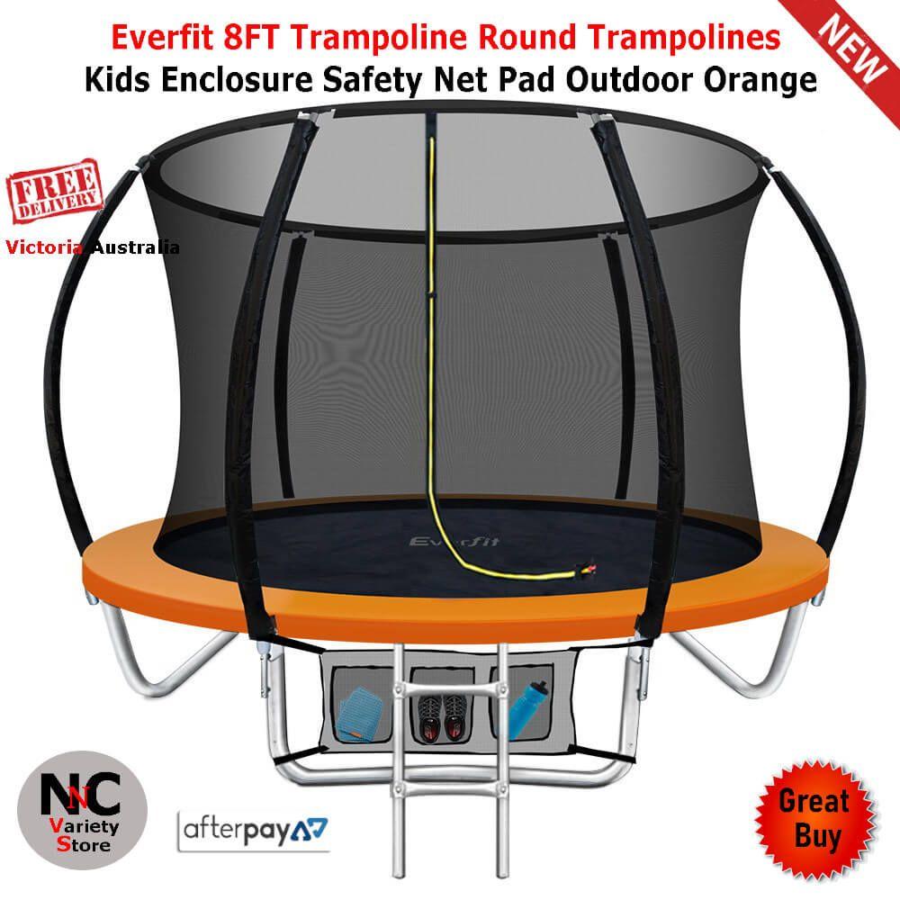 Everfit 8ft trampoline round trampolines kids enclosure