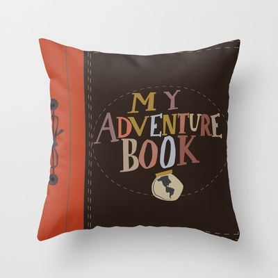 My Adventure Book Up Carl And Ellie Throw Pillow By