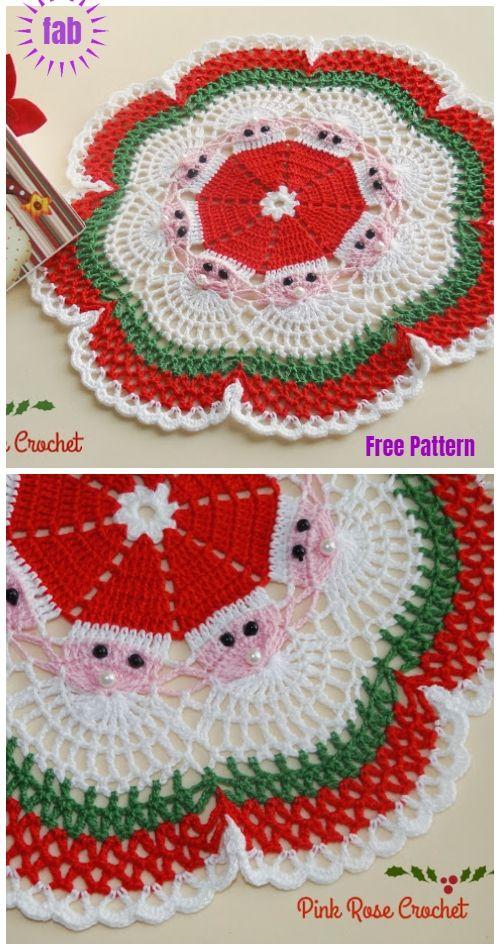 Christmas Crochet Santa Doily Free Crochet Patterns