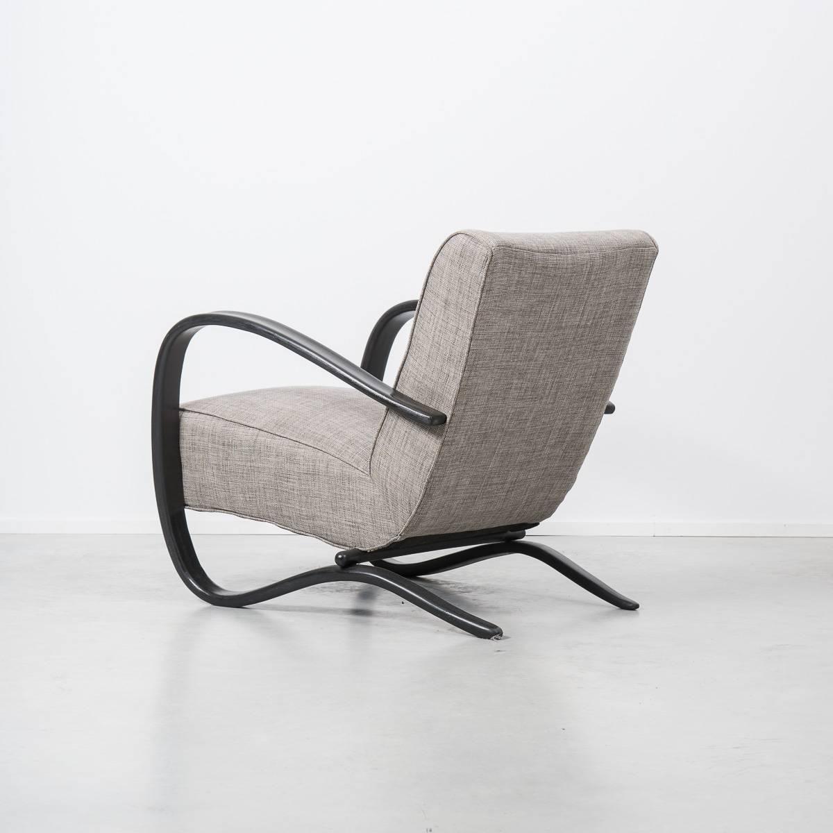 Jindrich Halabala H269 Art Deco Chair, Czechoslovakia, 1930s