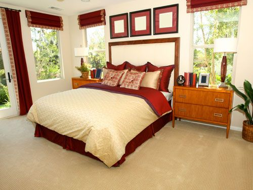 bedroom ideas red and cream