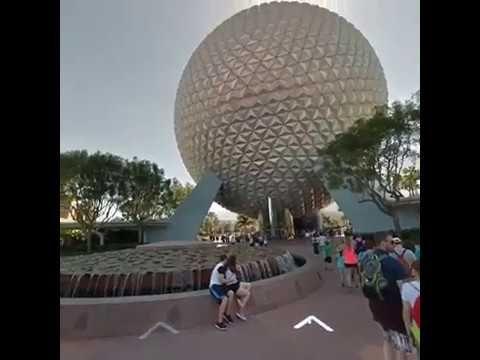 Oculus Go Wander App Traveling to Disney's Epcot Park
