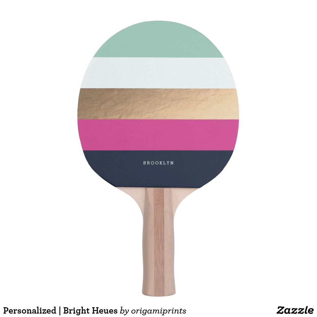Personalized Bright Heues Ping Pong Paddle Zazzle Com Ping Pong Paddles Ping Pong Ping