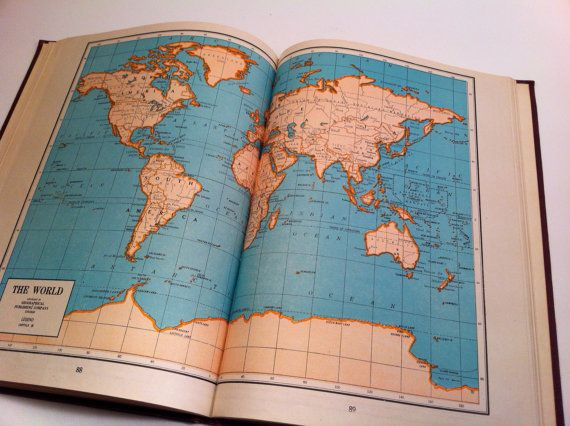 School and home atlas of the world maps 1941 edition book gumiabroncs Images