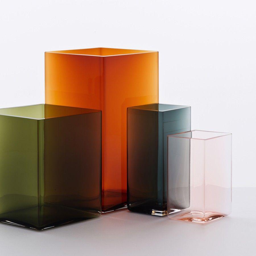 Vase Ruutu 27cm Iittala Schoner Wohnen Shop Die Designer Ronan Und Erwan Bouroullec Entwarfen Ruutu Fur Die We Geblasenes Glas Iittala Vase Vase