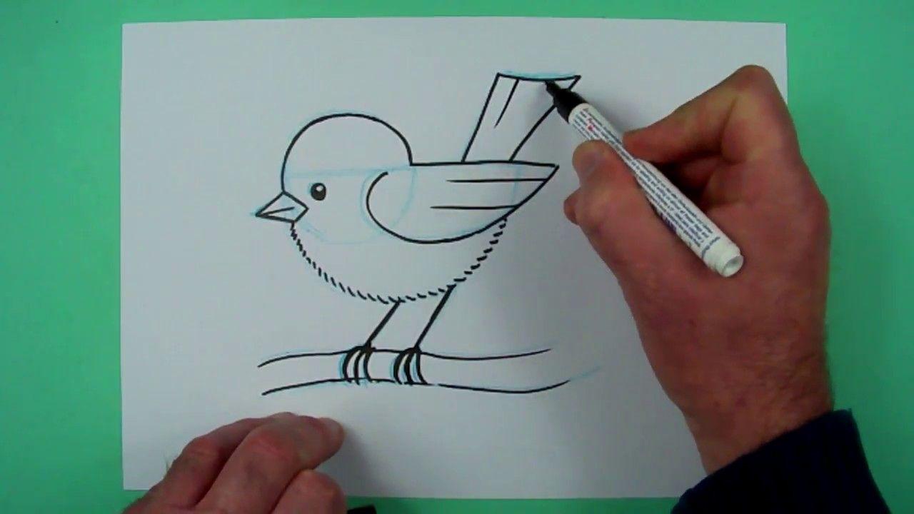 Vogel Zeichnen Mit Genauer Anleitung Zeichnen Fur Kinder Vogel