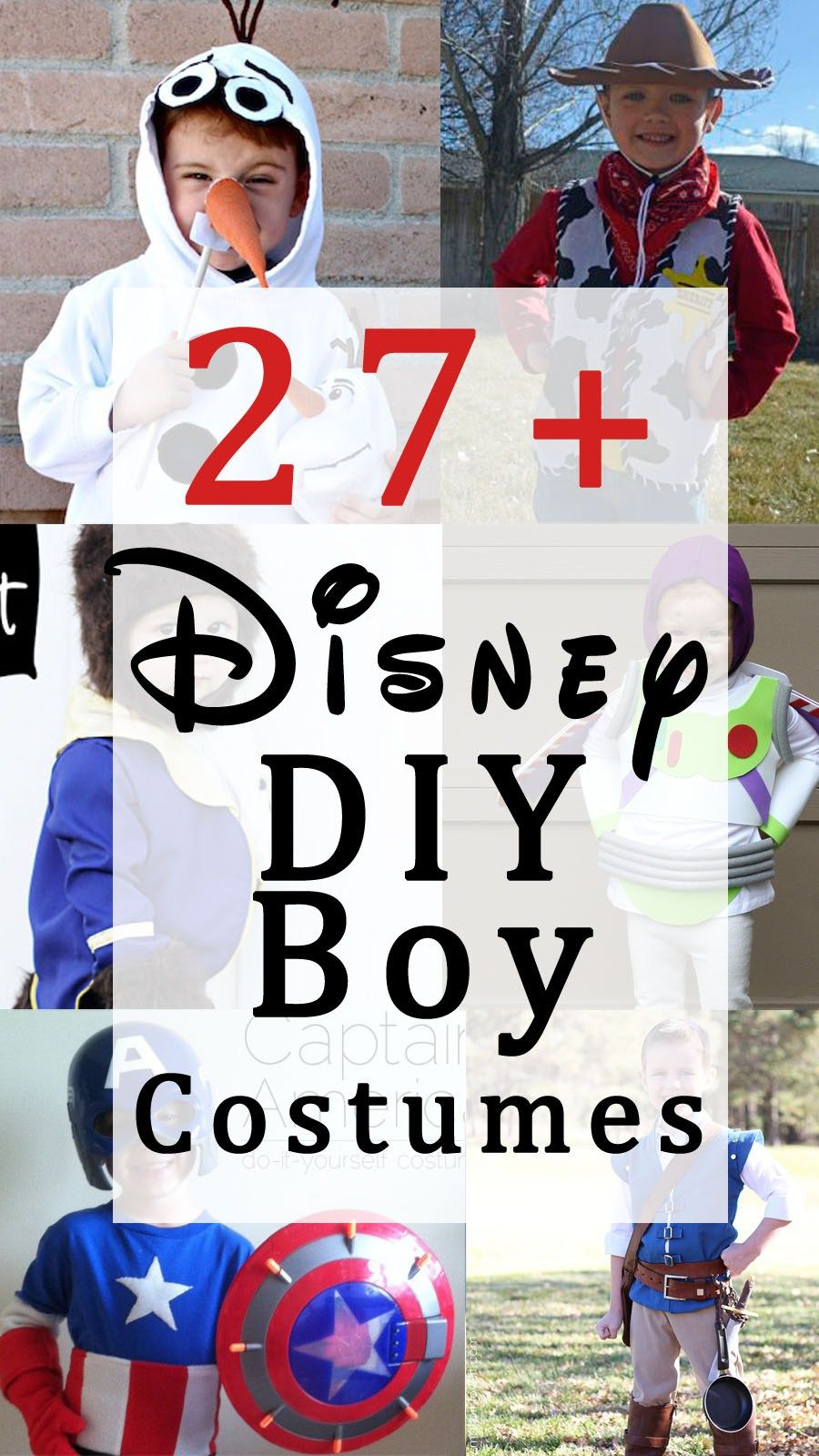 27+ Disney DIY Boy Costumes that are perfect for Halloween or for dress-up! & a bit of halloween eye candy. | Pinterest | Disney diy Diy ...