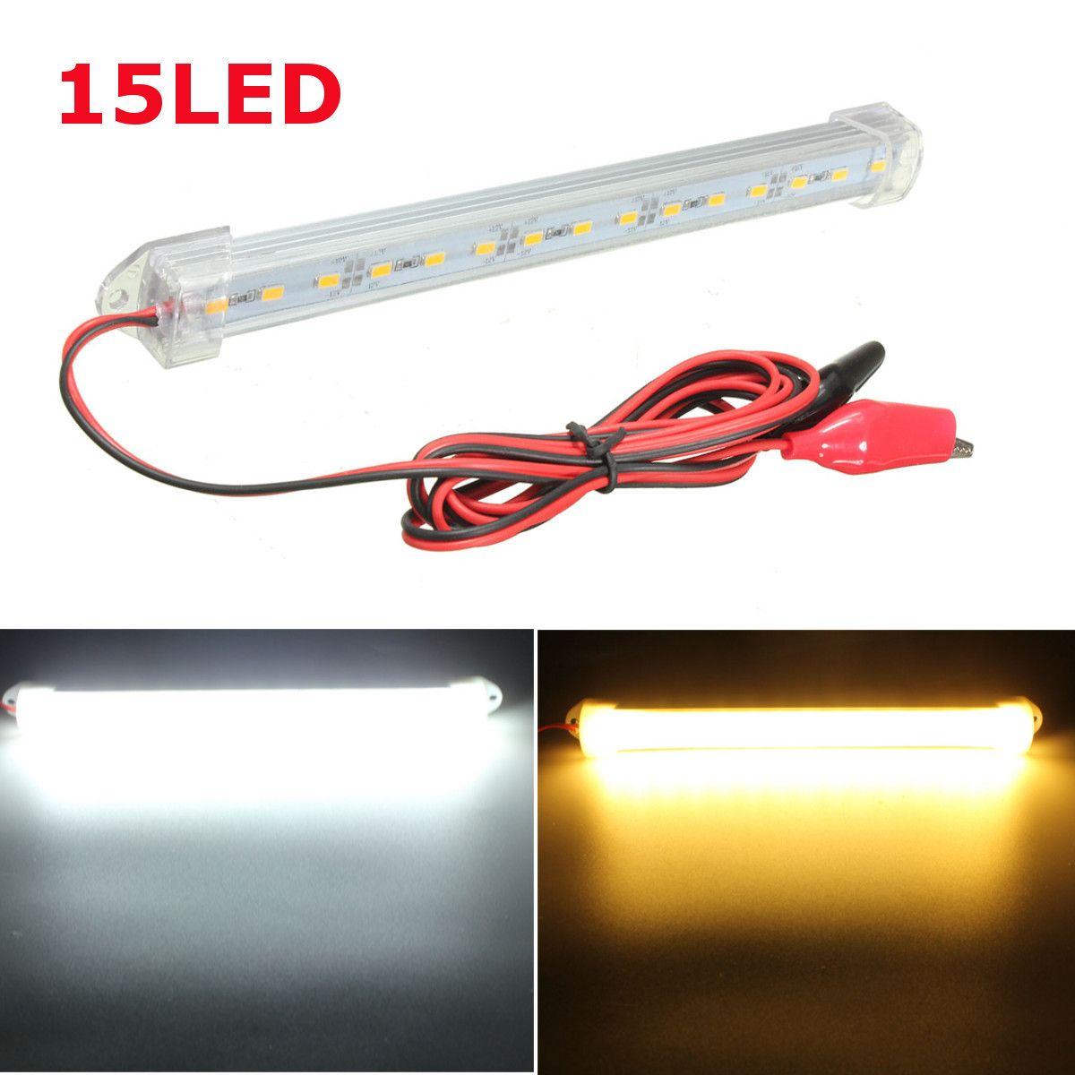 New 12V LED 150cm Car Interior Light Bar Tube Strip Lamp Van Boat ...