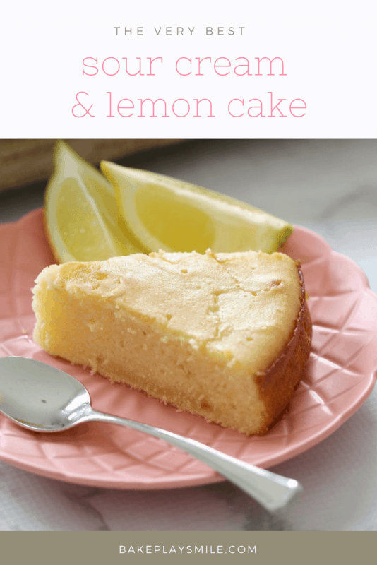 Easy Sour Cream Lemon Cake Recipe Lemon Sour Cream Cake Sour Cream Cake Lemon Recipes