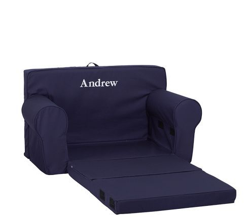 Navy Fold Out Anywhere Lounger Pottery Barn Kids