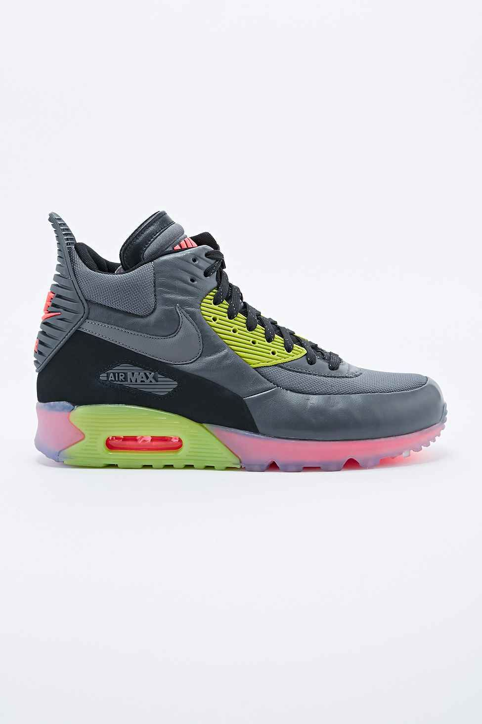 Nike Air Max 90 Trainer Boots in Grey | Basket air max, Nike