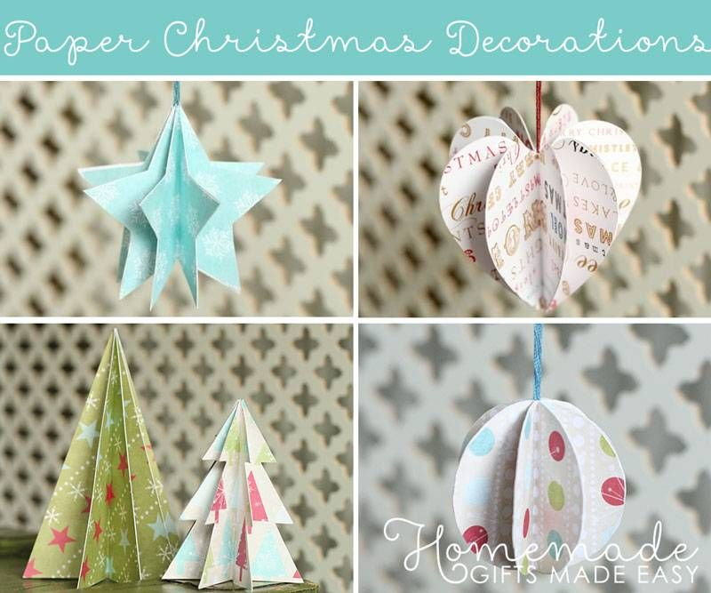 paper christmas ornament tree christmas crafts Pinterest Paper