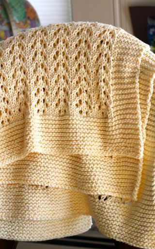 winter white blanket (knit, but supposedly not complicated ...