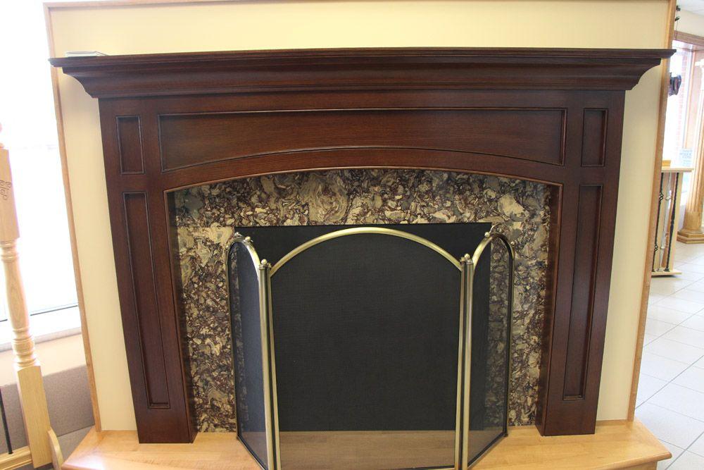 Custom Mantel made by Brunsell Lumber