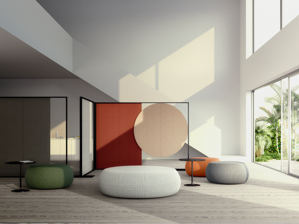 Office Lounge With Parentesit Acustic Panels By LievoreAltherr Molina For  Arper