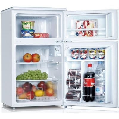 Keystone 3 1 Cu Ft Top Freezer Mini Fridge In White Home Depot Iving Room Ideas Mini Fridge Movie Room
