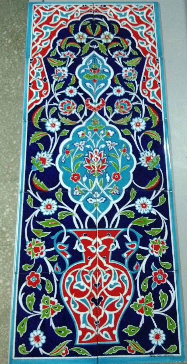 - 40x100cm - Night Garden Backsplash Islamic Tiles, Tiles, Tile Murals