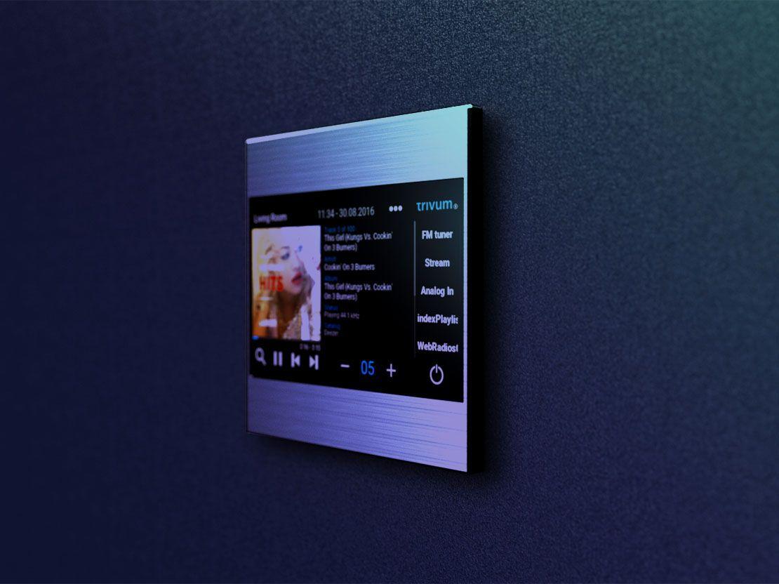 Trivum Touchpad 4 3 For Smart Home Control Smart Home Steuerung Intelligentes Haus Lichtschalter