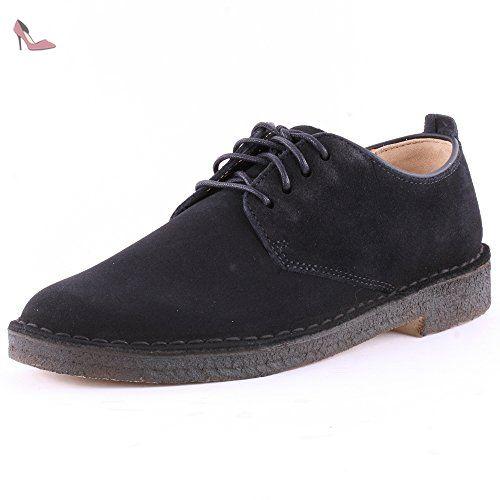 Clarks Desert London Chaussures pour homme Originals - Noir - Daim noir, 47  - Chaussures