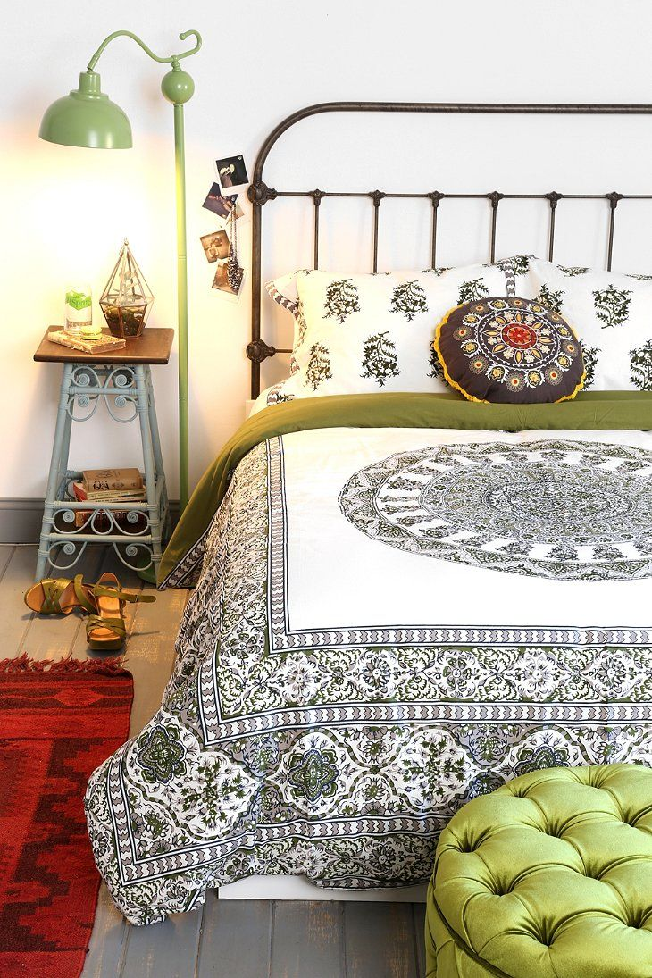 Drawn to this print - gorgeous!  Magical Thinking Temple Medallion Duvet Cover - urban outfitters