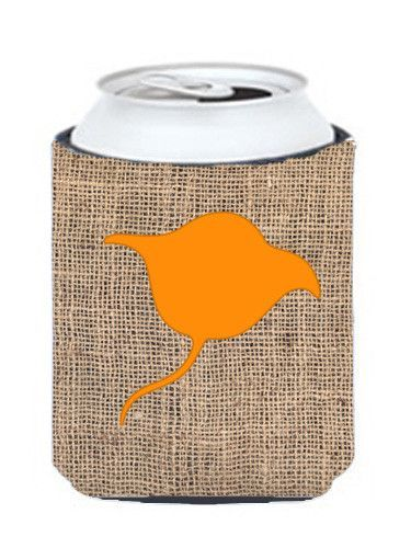 Stingray Burlap and Orange Can or Bottle Beverage Insulator Hugger