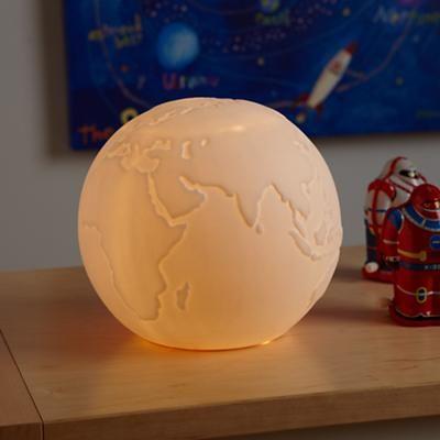 Kids' Lighting: Globe Matte Porcelain Nightlight